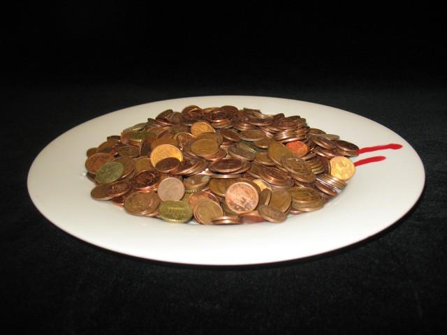 Reducción de euro, aromatizado con sangre de pobre