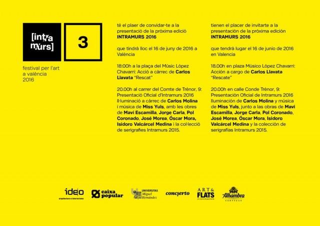 Festival per l'art a valencia-Intramurs 2016